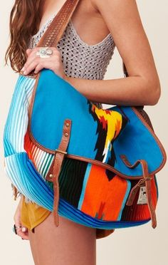 I HEART THIS♥Navajo print Messenger Bag by Will Leather Goods