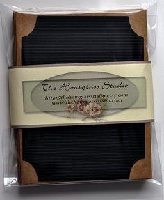 Cards  Blank Embellish Black Flat Card Set by TheHourglassStudio, $10.75
