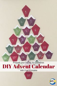 DIY Advent Calendar with Free Printable - Kidz Activities