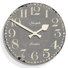 Market Hall Clock - Overcoat Grey - 50cm dia from Newgate Clocks
