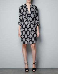 PRINTED BIB FRONT TUNIC - Dresses - Woman - New collection - ZARA United States