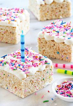 Birthday Marshmallow Cereal Treats