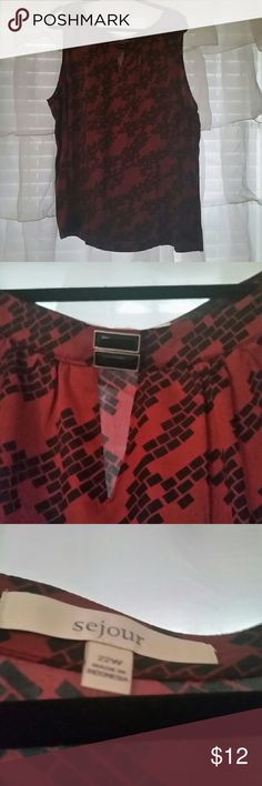 Sejour Top NWOT Nice top accented with a decorative button. Side zipper. More of a fitted top to wear under a blazer or cardigan. Purchased from Nordstrom Sejour Tops Blouses