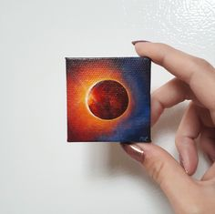 Post with 1289 votes and 90911 views. Tagged with art, space, oc, creativity, solar eclipse; Shared by I painted two tiny solar eclipse paintings! Small Canvas Paintings, Easy Canvas Art, Small Canvas Art, Easy Canvas Painting, Mini Canvas Art, Simple Acrylic Paintings, Eye Painting, Galaxy Painting, Mini Paintings