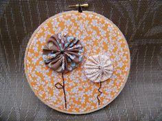 fabric yoyo flowers