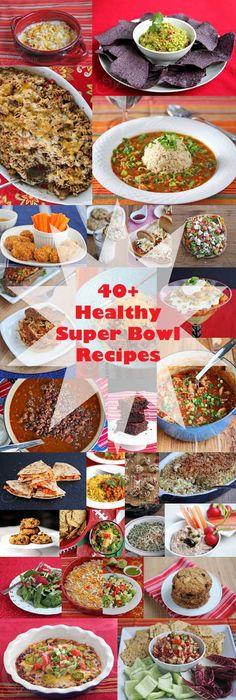 40+ Healthy Super Bowl Recipes #Recipes #GameDay #Dips