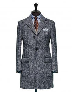 Tailored Coat - Fabric OCS0025 Herringbone Blue