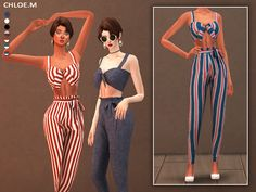 The Sims 4 Camisole and Pants with bowknot