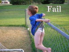Which is more Epic Fail?  The Kid? Or the photographer who left the kid up there to take the pic?