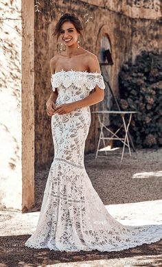 Here at Boho we are BIG BIG fans of Grace Loves Lace. Many of our real wedding brides wear Grace Loves Lace, the brand fits the Boho brides' style perfectly. So today we're so excited to share Grace … Lace Beach Wedding Dress, Perfect Wedding Dress, Dream Wedding Dresses, Bridal Dresses, Lace Wedding, Wedding Gowns, Mermaid Wedding, Lace Mermaid, Lace Dresses