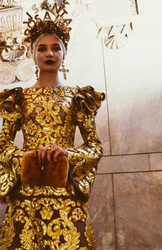 "monsieur-j: ""Dolce & Gabbana Couture 2017 Backstage """