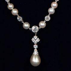 Tiffany & Company Natural Pearl & Diamond Necklace, ca. 1909.  80,000 to 200,000. Antiques Roadshow