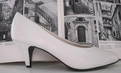 HÖGL New Basic Damen Pumps made in austria TRUE VINTAGE Schuhe weiß white