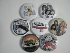 LED ZEPPLIN OLD FAVORITE 7 PINS BUTTONS BADGE NEW  #160