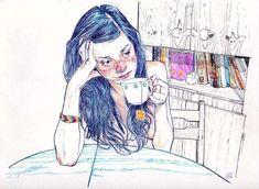 Julian Landini nipple free art coffee