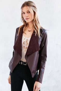 BB Dakota Tamela Vegan Leather Jacket - Urban Outfitters