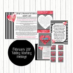 February 2017 Visiting Teaching Message- Digital Printable-Christ's Atonement Is Evidence of God's Love by Mimileeprintables on Etsy Visiting Teaching Message, Visiting Teaching Handouts, Teaching Aids, Lds Church, Church Ideas, Relief Society Handouts, Atonement, Inspirational Thoughts, Baby Crafts