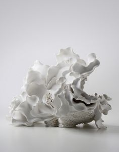 Noriko Kuresumi - porcelaine - Sea of memory