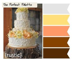 rustic browns, coral and yellows...