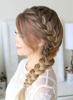 50 Very Beautiful Side Braid Hairstyle For Schlool Braidedhairstyles Side Braid Hairstyles Prom Hairstyles For Long Hair Long Braided Hairstyles