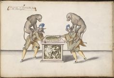 Entrée des laquais et des singes Entry of lackeys and monkeys