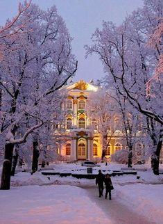 Winter in Saint-Petersburg, Russia