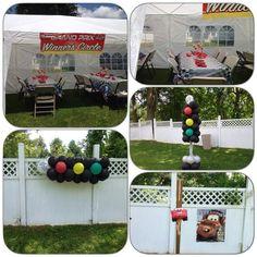 Balloon decorations disney cars second birthday