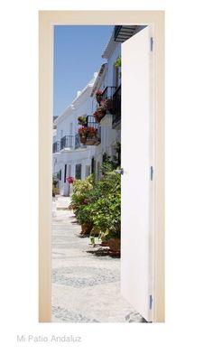 Puertas balcón Frigiliana blanca. - Página web de mipatioandaluz