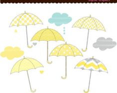 Baby Umbrella Clip Art Related Keywords & Suggestions - Baby Umbrella…