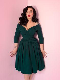 Starlet Swing Dress in Hunter Green - Vixen by Micheline Pitt 624b3294f