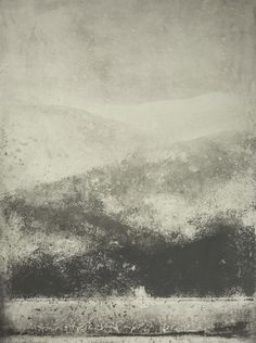 norman ackroyd - england, northern counties:  snow at coniston