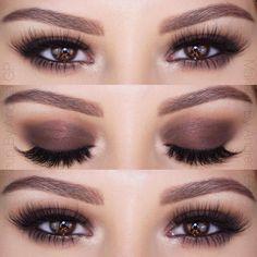 shimmery mocha brown smokey eye ~  we ❤ this! moncheribridals.com