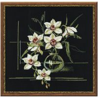 White Orchid Counted Cross Stitch Kit