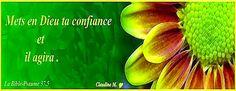 Remettons notre vie entre les mains du Seigneur et laissons le agir. Déposons nos fardeaux à ses pieds et faisons lui entière confiance et cette magnifique promesse s'accomplira :  - C'EST LUI QUI AGIRA -  Laissons le agir en cette matinée que je vous souhaite pleine de Sa paix. ♥  https://plus.google.com/u/0/+ClaudineMichau45/posts