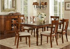 picture of Harwinton Brown 5 Pc Round Dining Room from Dining Room Sets Furniture Country Dining Rooms, Dining Room Furniture Sets, Wooden Dining Table Modern, Rustic Dining Room Table, Dining Room Design, Home Decor, Dining Room Layout, Dining Room Table, Affordable Dining Room Sets