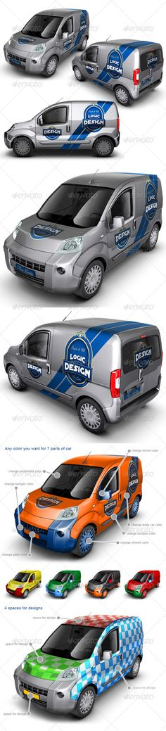 Minivan Car Mock Up — Photoshop PSD #minivan #multi-purpose vehicles • Available here → https://graphicriver.net/item/minivan-car-mock-up/1818134?ref=pxcr
