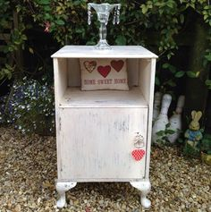 Shabby Chic Distressed Cabinet | eBay