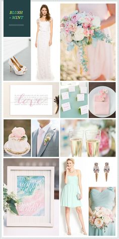 REVEL: Blush + Mint Wedding Inspiration