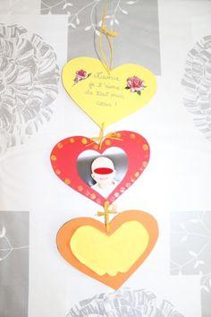 Cadeau pour la fête des grands-mères 2013!  Voici le dos des coeurs (carton ondulé) :