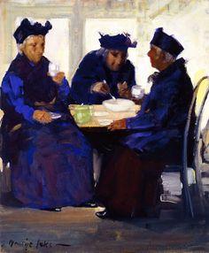 'Tea Party', 1922, by George Luks (American,1867-1933)