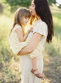 love this momma/daughter photo of the littlest by jose villa