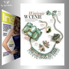 Lubiecie biżuterię w kolorze miętowym? By Dziubeka ma kilka propozycji  #bydziubeka #jewelry #rings #neckless #earrings #bracelet