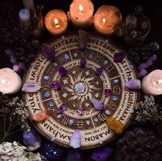 Farmhouse Inspiration wheel of the year laser etched altarYou can find Wicca and more on our website.Farmhouse Inspiration wheel of the year laser etched altar Yule, Wicca Witchcraft, Magick, Yennefer Of Vengerberg, Modern Witch, Witch Aesthetic, Aesthetic Dark, Sabbats, Beltane