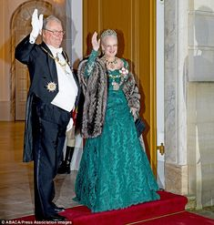Queen Margrethe, and her husband Prince Henrik, hosted the VIP bash at Amalienborg Castle and hundreds of well-wishers gathered at the entrance to watch the guests arrive, 31 December Prince Héritier, Royal Families Of Europe, Gala Gowns, Queen Margrethe Ii, Princess Marie Of Denmark, Danish Royalty, Danish Royal Family, Odense, Satin Gown
