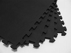 Regrind rubber tiles gym and basements 168 square feet 42 tiles borders we sell mats black 2 x 2 x 38 antifatigue home gym flooringrubber tyukafo
