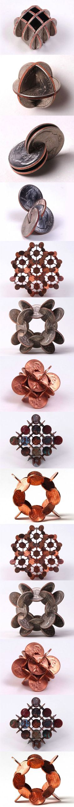 Art with coins.<<<<These are some priceless creations