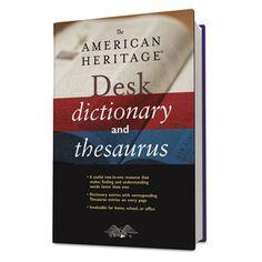 BOOK,AH DICTNY/THESAURS