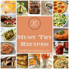 A collection of the top 20 recipes on Pinterest that are just BEGGING to be tried!