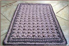 Pólófonalból horgolt szőnyeg | Kötni jó - kötés, horgolás leírások, minták, sémarajzok