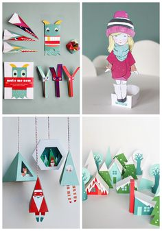 The holiday collection from Smallful.com - printable toys, dolls, 3D ornaments and more. I want them all!